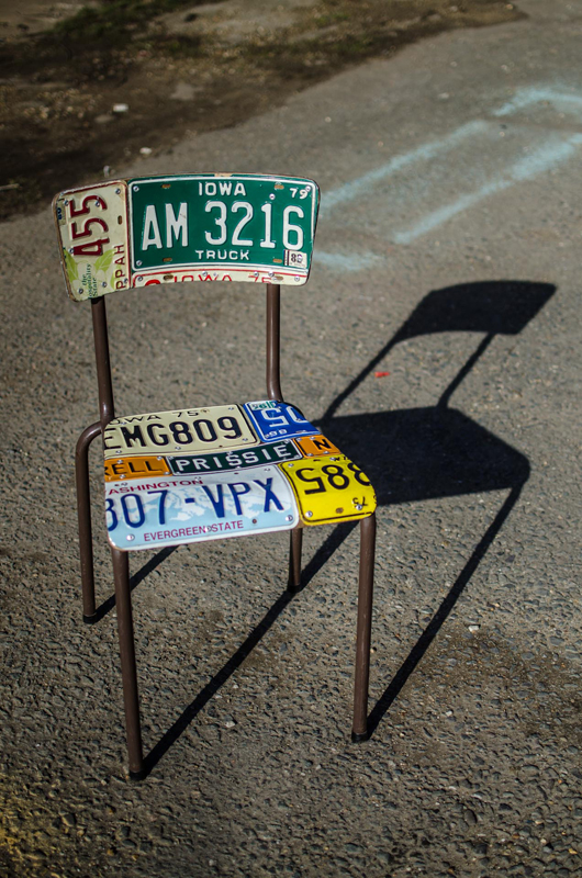 American Number plate set of 4 and table 3