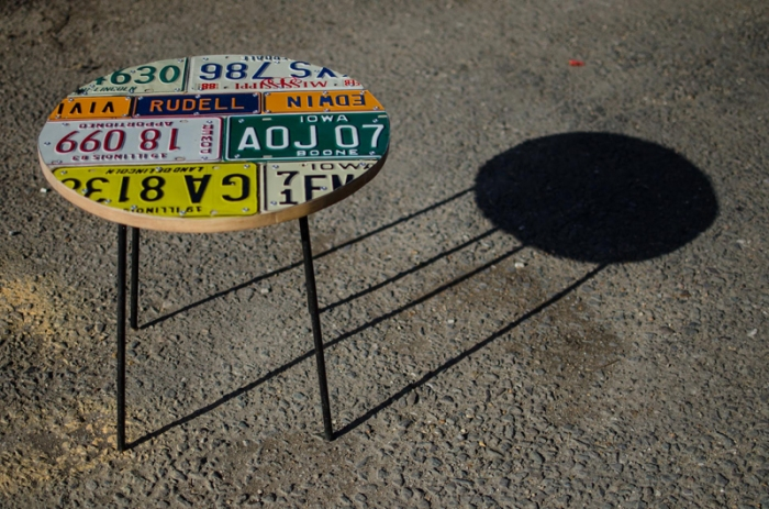 American Number plate set of 4 and table 5