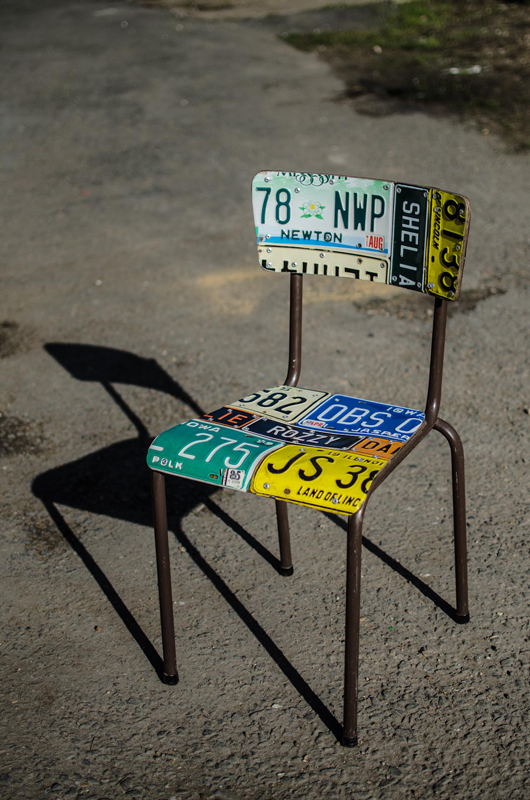 American Number plate set of 4 and table 7