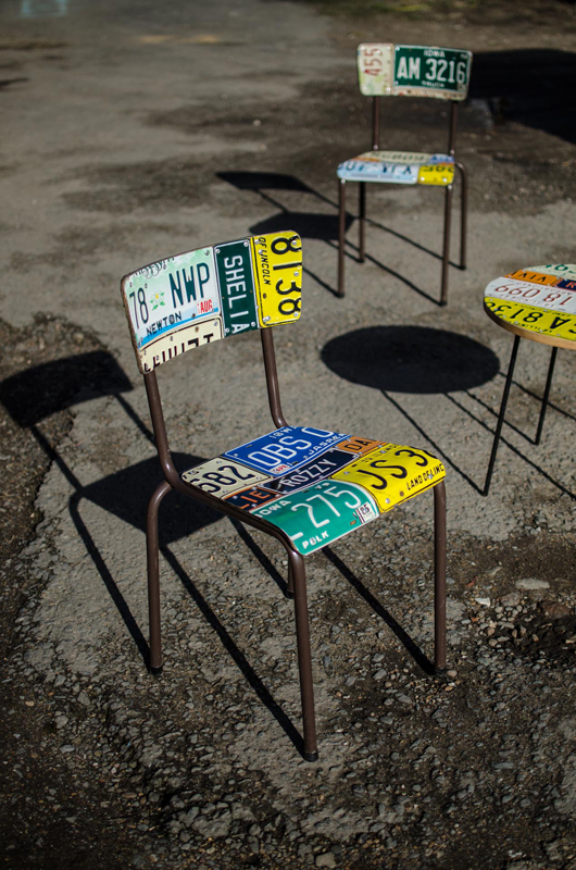 American Number plate set of 4 and table 8