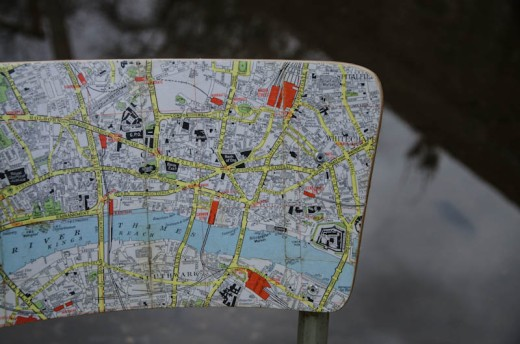 London Map Chair 3