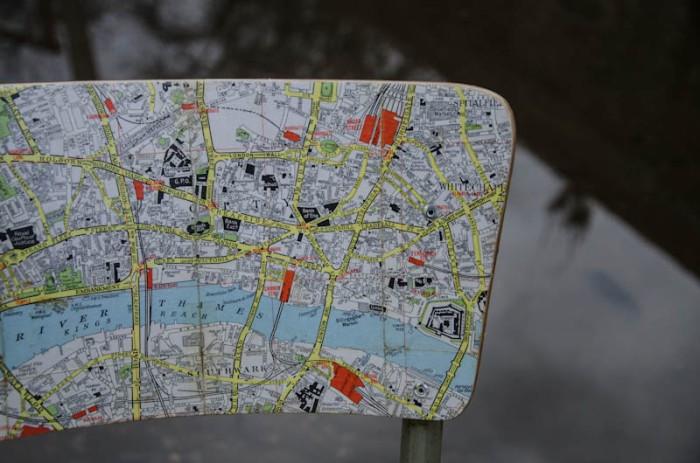 London Map Chair 3